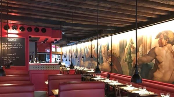 Salle du restaurant - Fiston Bouchon Lyonnais, Lyon-5E-Arrondissement
