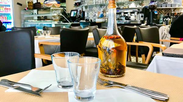 détail de la table - La Piccolina, Paris