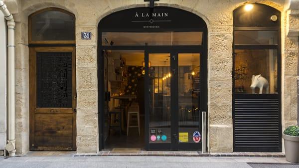 Devanture - À la Main le Comptoir, Paris