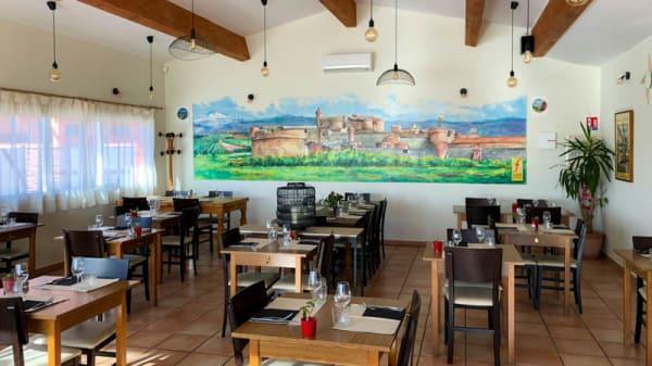Vue de l'intérieur - Restaurant Pizzeria du Fort de Salses, Salses-le-Château