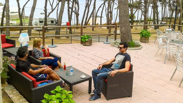 Vista terraza - Restaurant Camping Palamós, Palamos