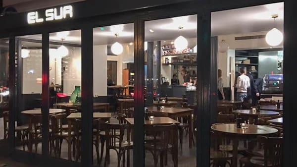 Devanture - Café El Sur, Paris