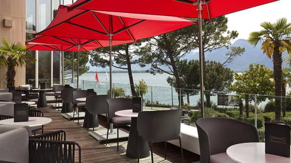 Terrasse du bar l'Escadrille - Le Fouquet's Montreux, Montreux