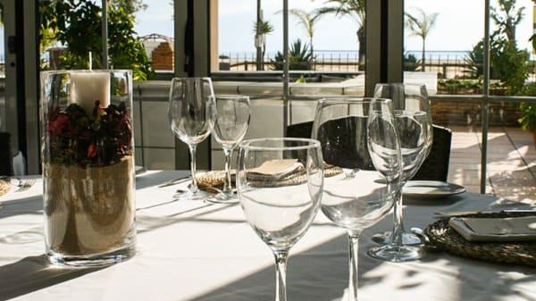 Vista mesa - Restaurante Las Dunas Mazagón, Mazagon