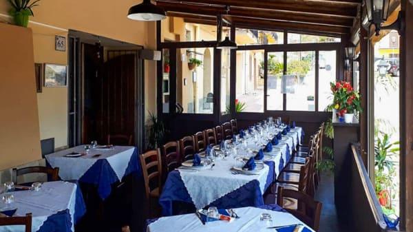 Vista de la sala - Onda Blu - Ristorante & Pizzeria, Castel di Tusa