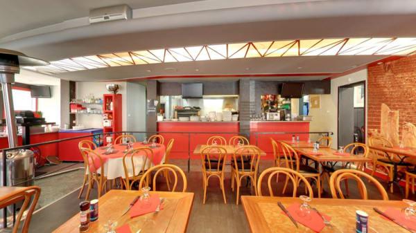 Salle du restaurant - Pizzeria la Romana, Écully