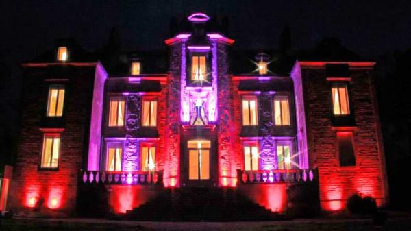Vue exterieure nuit - Manoir de Kerhuel - Restaurant Le Preti, Plonéour-Lanvern