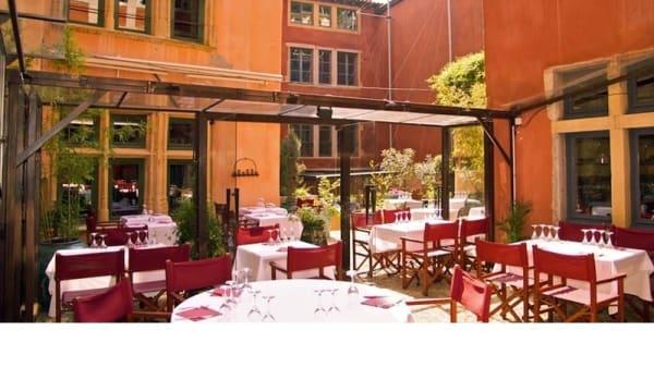 Aperçu de la terrasse ©Studio ARTFreelance - Les Terrasses - Hôtel La Tour Rose, Lyon