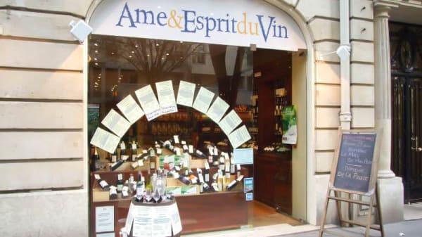 devanture - Âme et Esprit du Vin Mozart, Paris