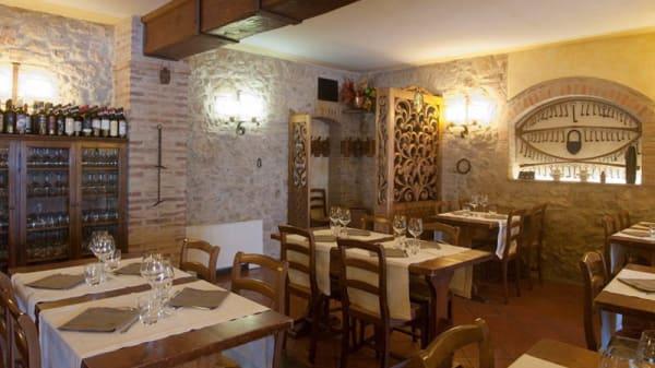 Vista sala - Da Pode, San Gimignano