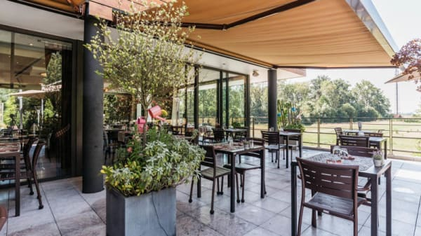 Vue de la terrasse - Le Chalet de l'Hotel