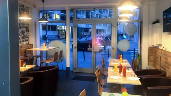 Vue de la salle - Burger lutèce, Paris