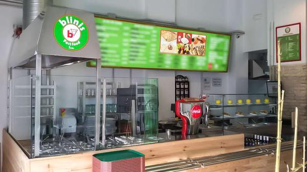 Vista barra - Blinis Fast Food, Sevilla