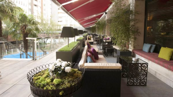Vista terraza - Uptown Lounge Bar & Restaurant - Hotel Meliá Castilla, Madrid