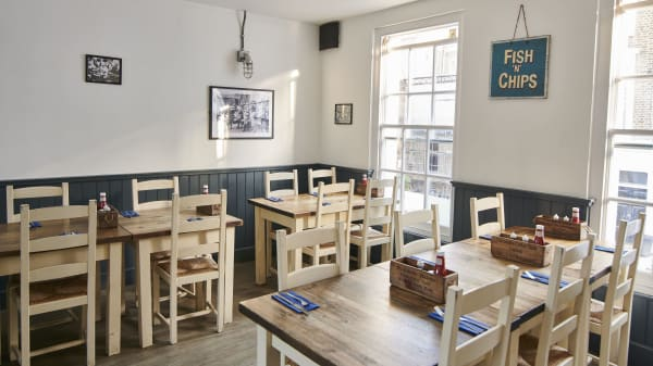 Deep Blue Fish & Chips - The Fish House Notting Hill, London