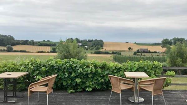 Terrasse - T'Hommelhof, Boeschepe