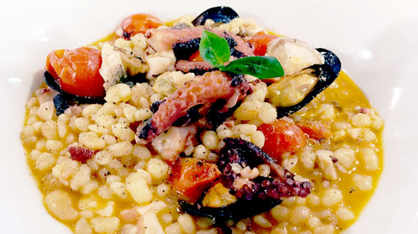 FREGOLA DI MARE POLPO.PESCATO E COZZE - Coendi Steakhouse & Seafood, Cagliari
