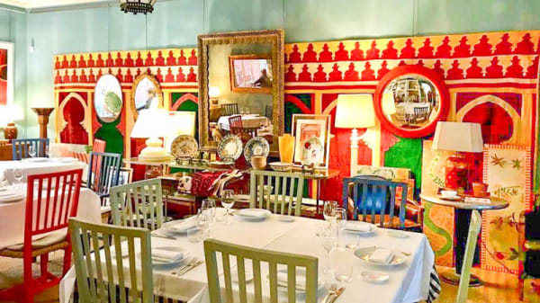 Vista de la sala - Restaurante Alcuzcuz Gallery, Benahavis