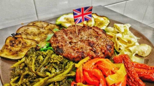 Burger al piatto con verdure - Jarm's Public House, Casalazzara, Aprilia
