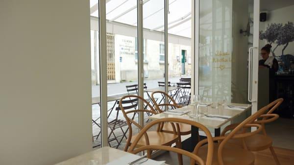 Vue entréé restaurant resto chez nat - Chez Nathalie, Paris