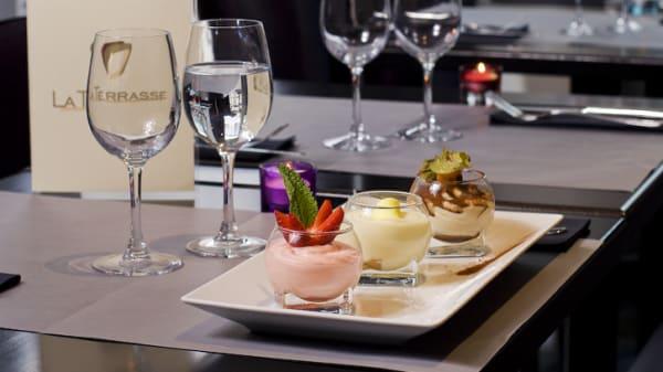 Desserts de saison - La Terrasse de l'Arche, Nanterre