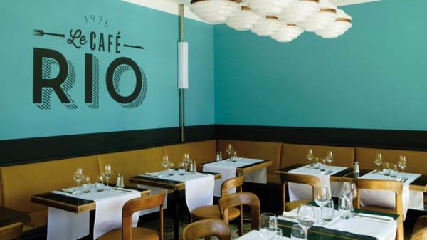 Vue de la salle - Café Rio, Petit-Lancy