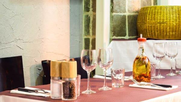 table dressée - Gusto Italia, Paris