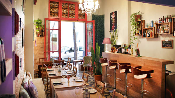 vista interior - Vicios y virtudes, Barcelona