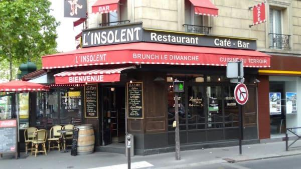 Devanture - L'Insolent, Paris