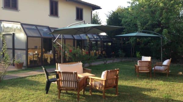 Vista sul giardino - Airone, Asciano