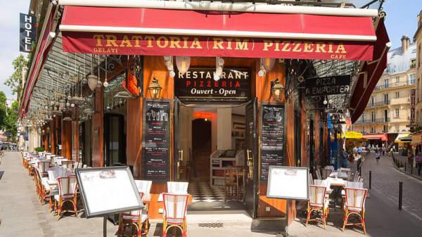 Vue de la terrasse - Rim Café, Paris