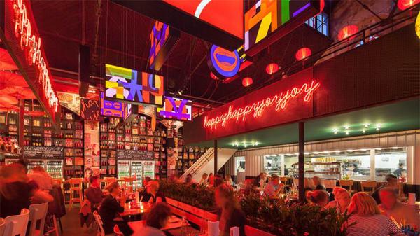 Het restaurant - Happyhappyjoyjoy West, Amsterdam