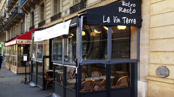 Façade du restaurant - Le Vin Terre, Paris