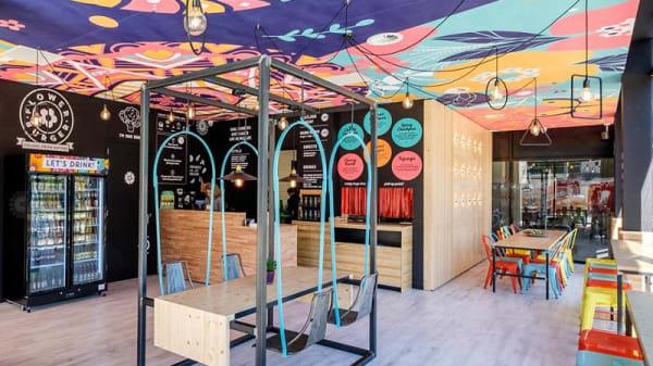 Vista sala - Flower Burger, Bari