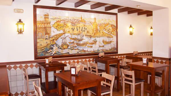 zona meson -mesas altas- - Mesón Guadalquivir, Sevilla