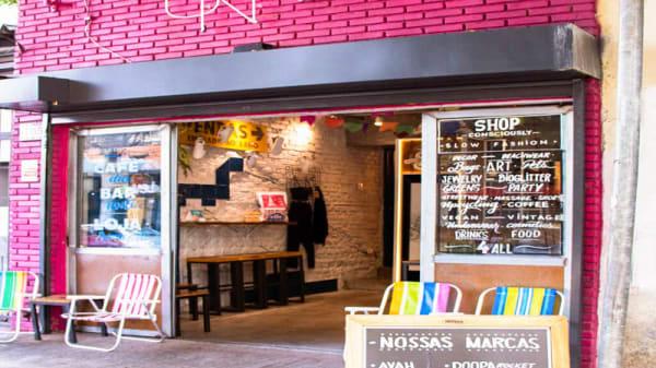Vista da sala - Coletivo Una Bar & Café, São Paulo