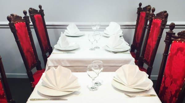 table dressée - Indiana Royal Kashmir, Montreuil
