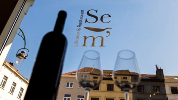 Internal view - Se m'ami...Librairie&Restaurant, Brussels
