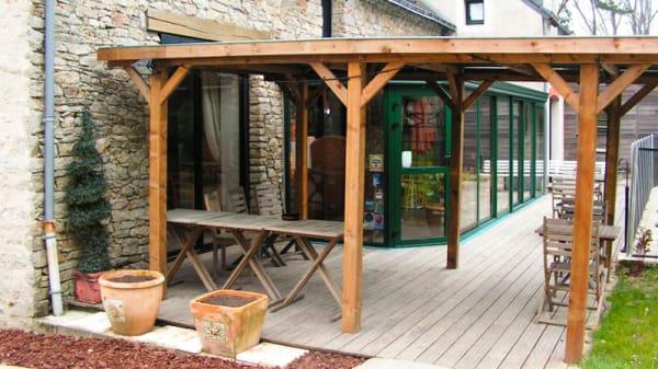 Terrasse et jardin - Press'Pomme, Vigneux-de-Bretagne