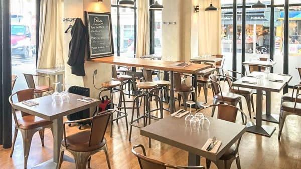 Salle du restaurant - Felice, Paris