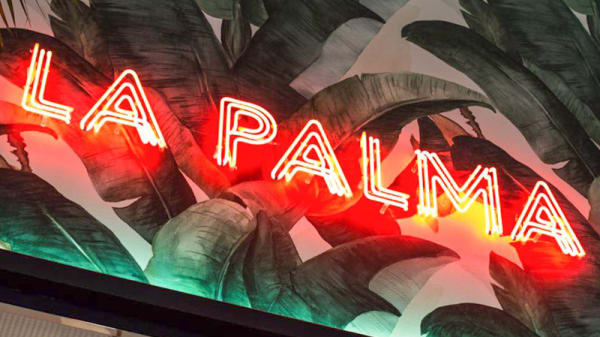 Entrada - Gran Café La Palma, Teia