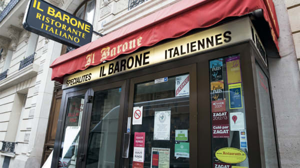 devanture - Il Barone, Paris