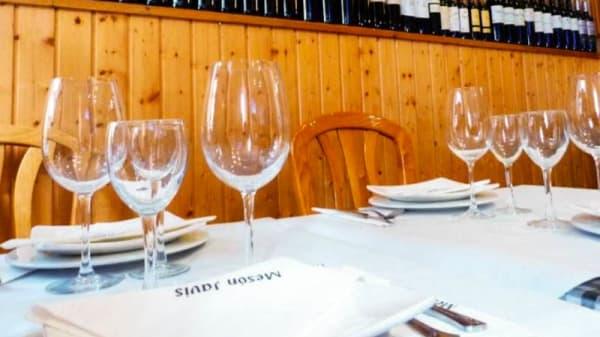 Detalle de la mesa - Mesón Javis, Navacerrada