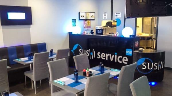 Salle de restaurant - Sushi Service, Saint-Denis