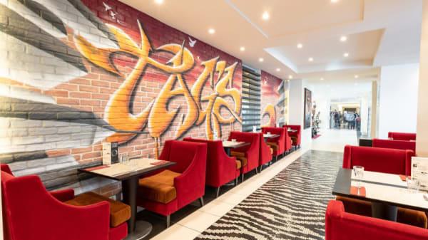 Vue de la salle - Tag's Café - Hôtel N'vY, Genève