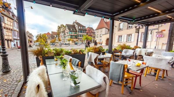 La jolie vue de notre terrasse chauffée - Bistrot des Lavandières, Colmar