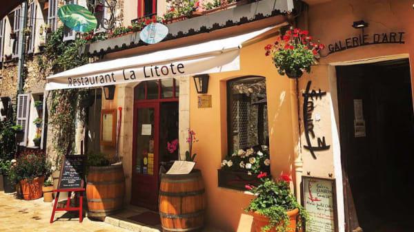 Devanture restaurant - La Litote, Vence