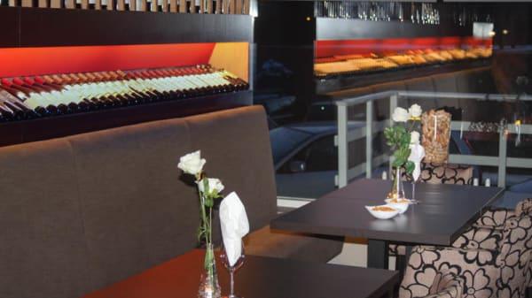 detail van de tafel - En Verre, Zwijndrecht