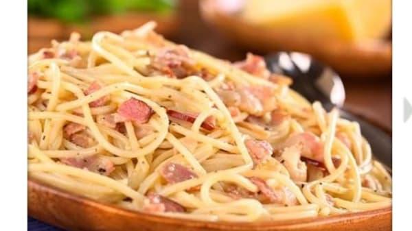 spaghetti alla carbonara.JPG - Rhome Restaurant, Rome