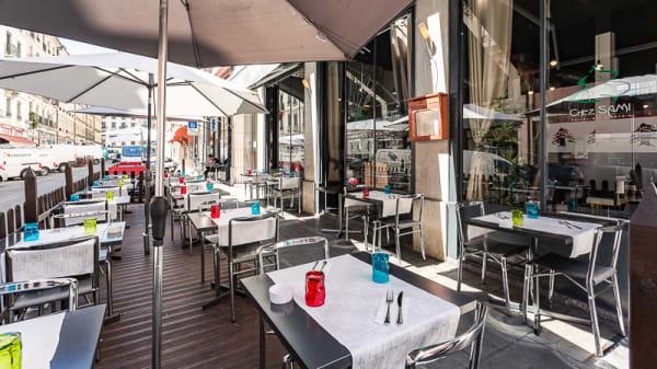 Vue terrasse - Chez Sami, Genève